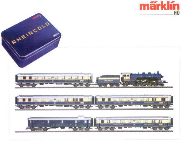 画像1: 鉄道模型 メルクリン Marklin 26751 ラインゴールド 列車セット 限定品 HOゲージ