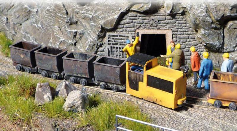 画像1: 鉄道模型 Busch ブッシュ 5000 鉱山列車スターターセット HOゲージ