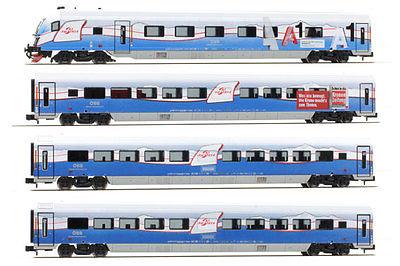 画像1: 鉄道模型 ホビートレイン HobbyTrain H25214 Railjet レイルジェット 客車4両セット Nゲージ