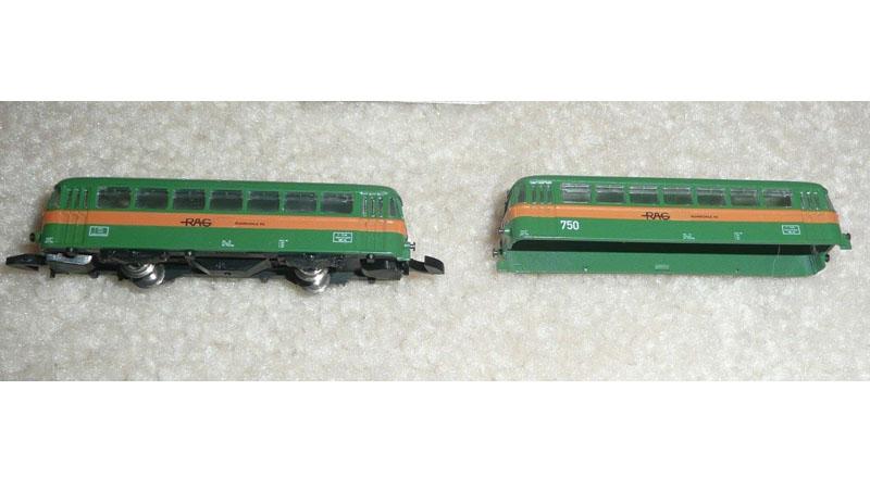 画像1: 鉄道模型 メルクリン Marklin 88817 レールバス 2両セット Zゲージ
