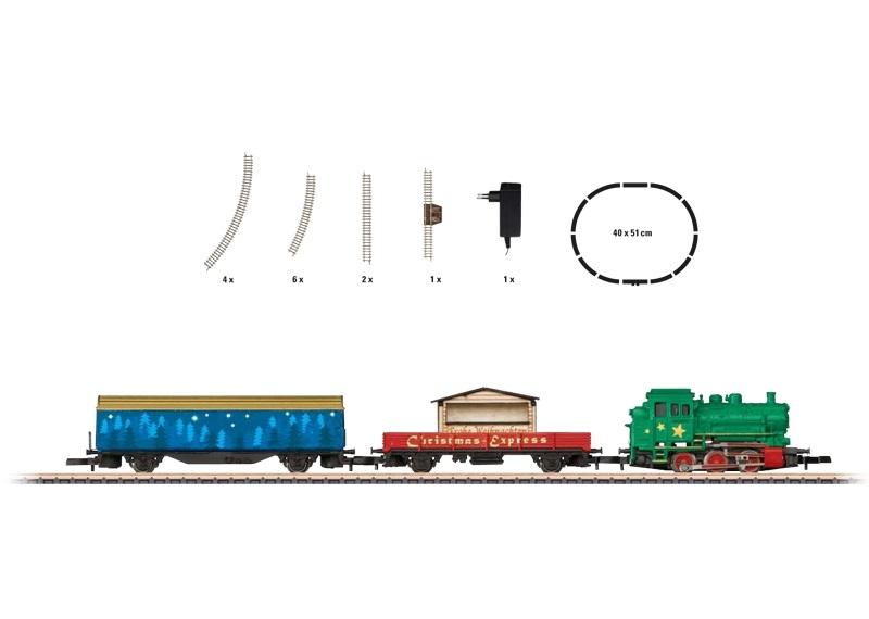 画像1: 鉄道模型 メルクリン Marklin 81709 ミニクラブ mini-club クリスマス スターターセット Zゲージ