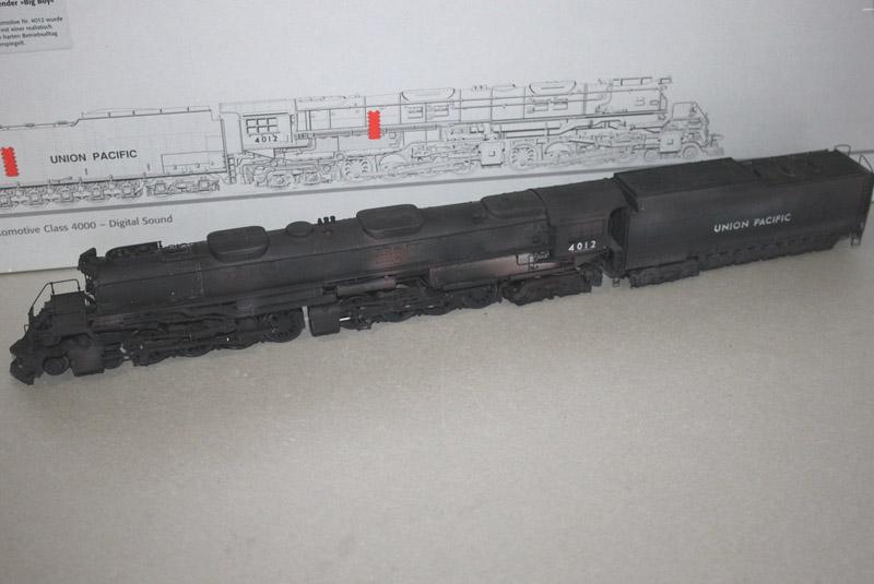 画像1: 鉄道模型 メルクリン Marklin 37992 BIGBOY ビッグボーイ 4012 蒸気機関車 ウェザリング塗装 HOゲージ