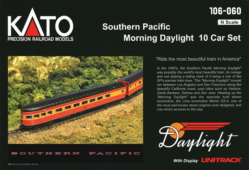 画像1: 鉄道模型 カトー KATO 106-060 Southern Pacific サザン・パシフィック Morning Daylight モーニング・デイライト 客車10両 Nゲージ