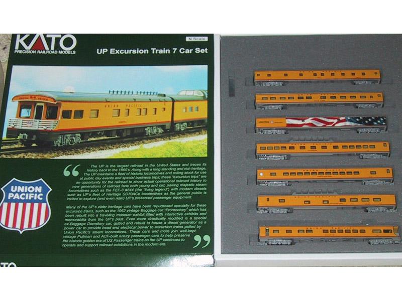 画像1: 鉄道模型 カトー KATO 106-086 ユニオンパシフィック エクスカージョントレイン 客車 7両セット Nゲージ