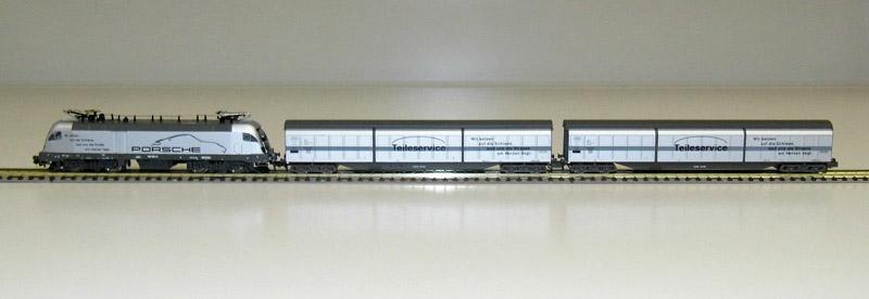 画像1: 鉄道模型 ホビートレイン HobbyTrain H2749 Taurus ポルシェ 貨車セット Nゲージ
