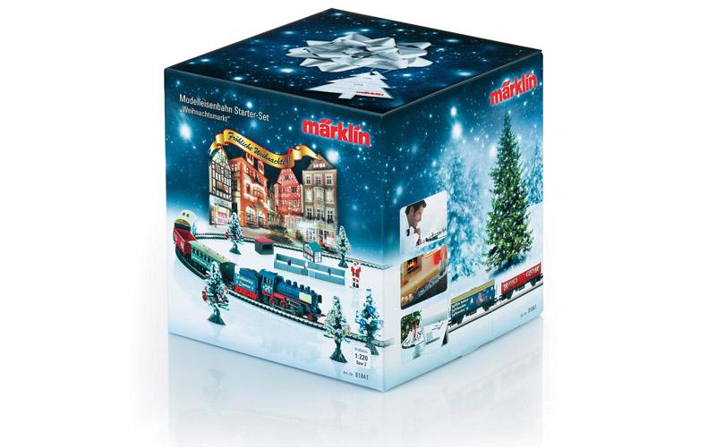 画像1: 鉄道模型 メルクリン Marklin 81841 ミニクラブ mini-club スターターセット クリスマスマーケット Zゲージ