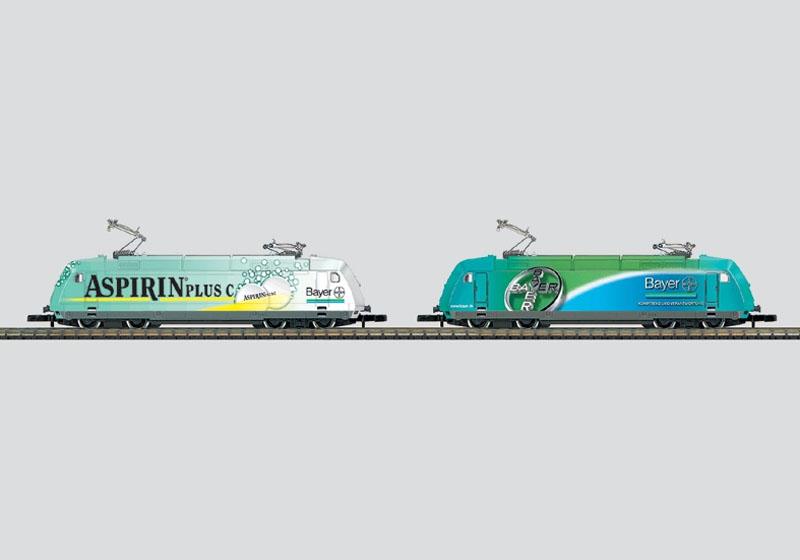 画像1: 鉄道模型 メルクリン Marklin 88683 ミニクラブ mini-club DB BR 101 Bayer 電気機関車 2両セット Zゲージ
