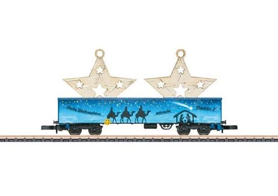 画像1: 鉄道模型 メルクリン Marklin 80626 ミニクラブ mini-club クリスマスカー 2016 貨車  Zゲージ