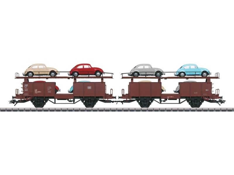 画像1: 鉄道模型 メルクリン Marklin 46137 フォルクスワーゲン・ビートル 自動車運搬貨車セット HOゲージ