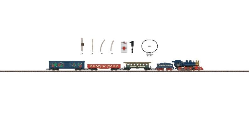 画像1: 鉄道模型 メルクリン Marklin 81846 ミニクラブ mini-club クリスマス スターターセット Zゲージ
