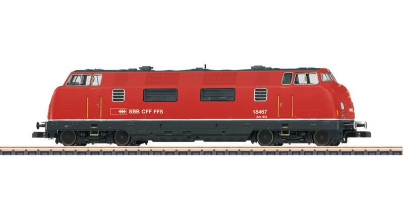 画像1: 鉄道模型 メルクリン Marklin 88331 ミニクラブ mini-club  SBB/CFF/FSS 4/4 ディーゼル機関車 Zゲージ