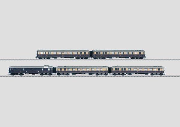 画像1: 鉄道模型 メルクリン Marklin 41928 ラインゴールド5両セット 客車 HOゲージ
