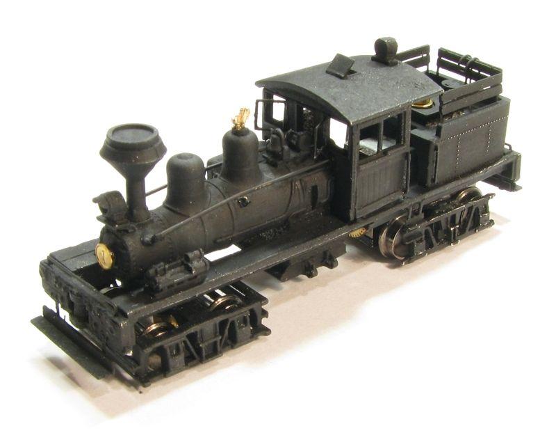 画像1: 鉄道模型 Class B, 30-40 Ton Shay Locomotive Kit シェイ 蒸気機関車 組み立てキット Nゲージ