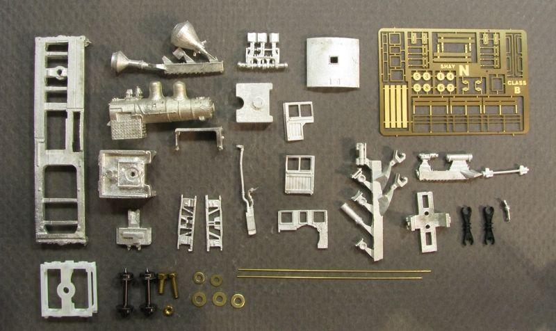 画像5: 鉄道模型 Class B, 30-40 Ton Shay Locomotive Kit シェイ 蒸気機関車 組み立てキット Nゲージ