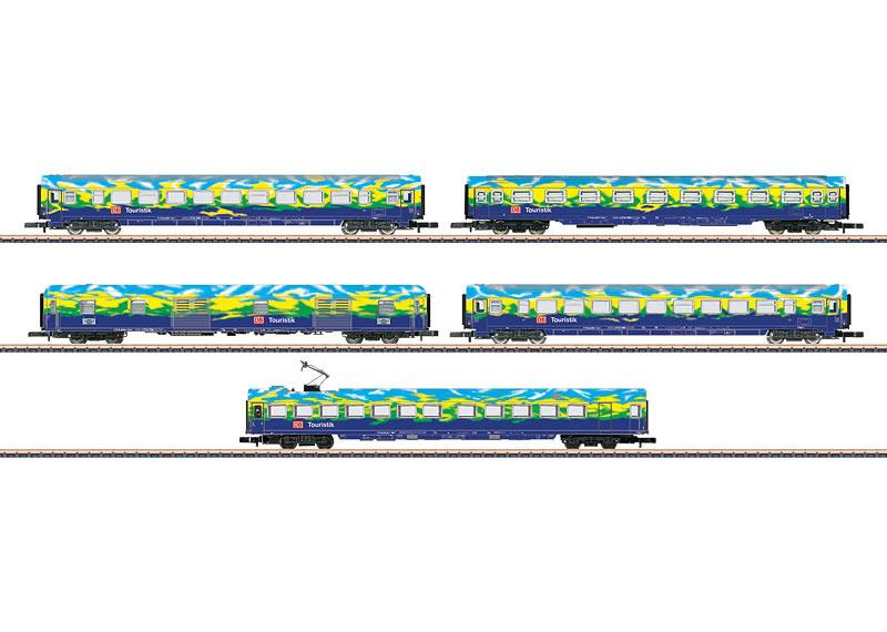 画像1: 鉄道模型 メルクリン Marklin 87303 ミニクラブ mini-club DB AG Touristikzug 客車5両セット Zゲージ