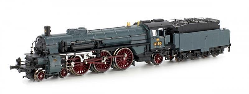 画像1: 鉄道模型 ホビートレイン HobbyTrain 4009 D Baden IVH Steel Blue 蒸気機関車 Nゲージ