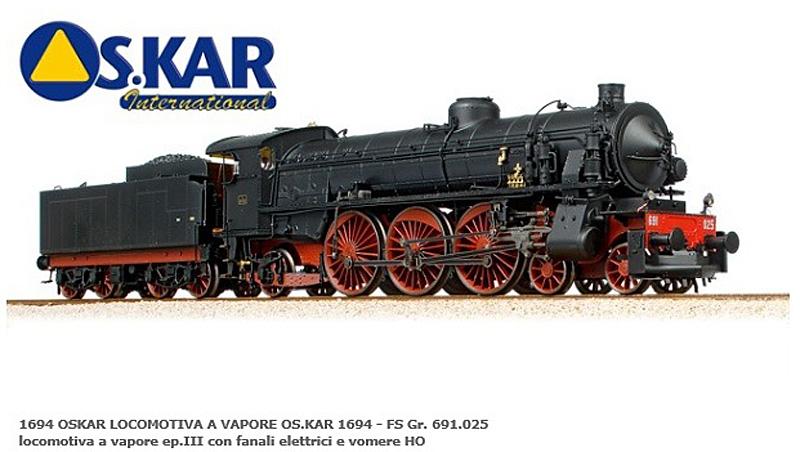 画像1: 鉄道模型 OSKAR 1694DS FS GR 691.025 DCCサウンド 蒸気機関車 HOゲージ