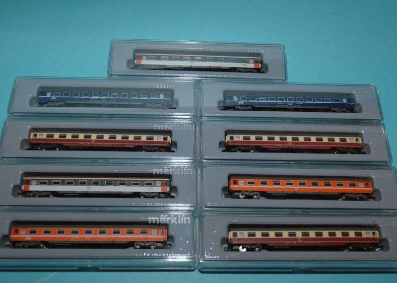 画像2: 鉄道模型 メルクリン Marklin 87409 ミニクラブ mini-club Eurofima 客車 9両セット  Zゲージ
