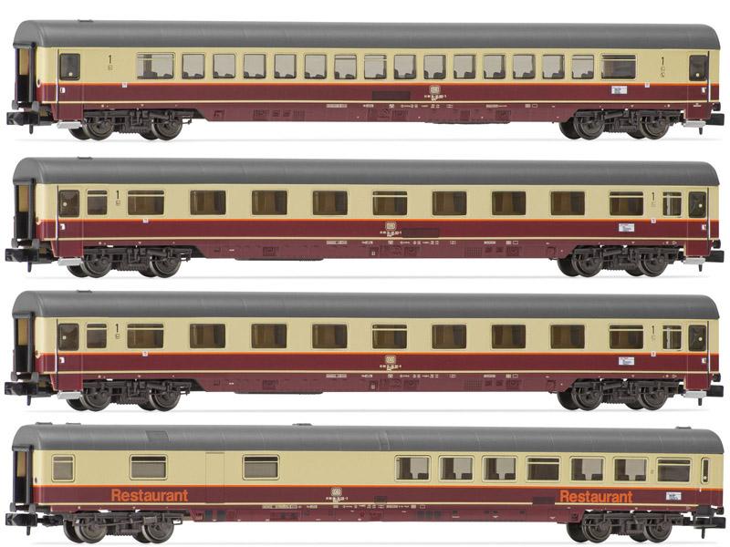 画像1: 鉄道模型 Arnold アーノルド HNS4184 'Rheingold 1983' DB ラインゴールド 客車4両セット Nゲージ