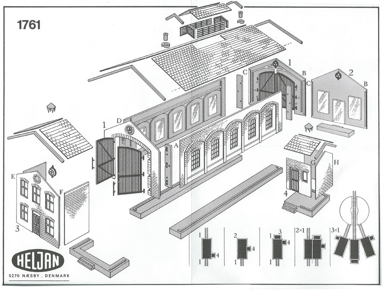 画像2: 鉄道模型 ヘルヤン HELJAN 1761 単線機関庫 HOゲージ