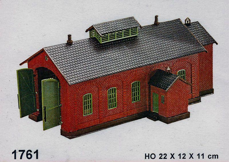 画像1: 鉄道模型 ヘルヤン HELJAN 1761 単線機関庫 HOゲージ