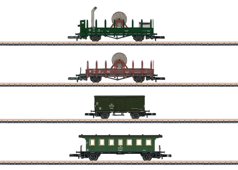 画像1: 鉄道模型 メルクリン Marklin 82101 ミニクラブ mini-club Marklin 架線工事貨車セット Zゲージ
