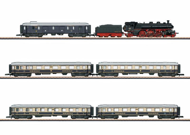 画像1: 鉄道模型 メルクリン Marklin 81332 ミニクラブ mini-club ラインゴールド Rheingold 90周年 列車セット Zゲージ