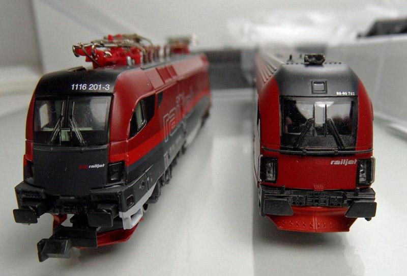 画像3: 鉄道模型 ホビートレイン HobbyTrain 25200/25201 Railjet レイルジェット 8両セット Nゲージ