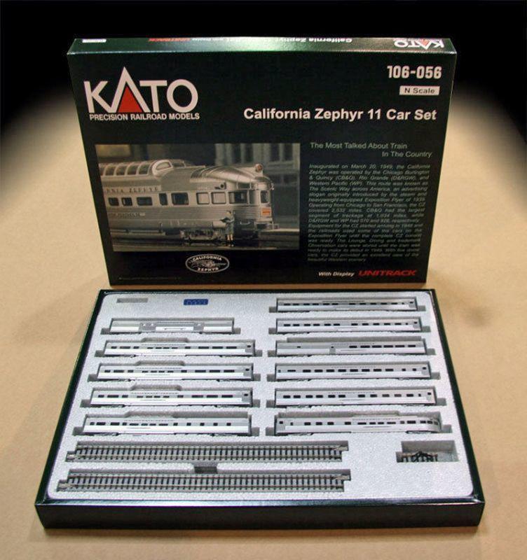 画像1: 鉄道模型 カトー KATO 106-056 カリフォルニア・ゼファー 客車11両セット Nゲージ