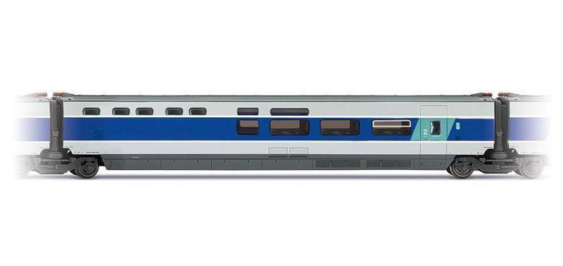 画像1: 鉄道模型 ジュエフ Jouef 4117 TGV BAR 客車 HOゲージ