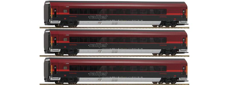 画像1: 鉄道模型 ロコ Roco 64191 RAILJET 客車 3両セット HOゲージ