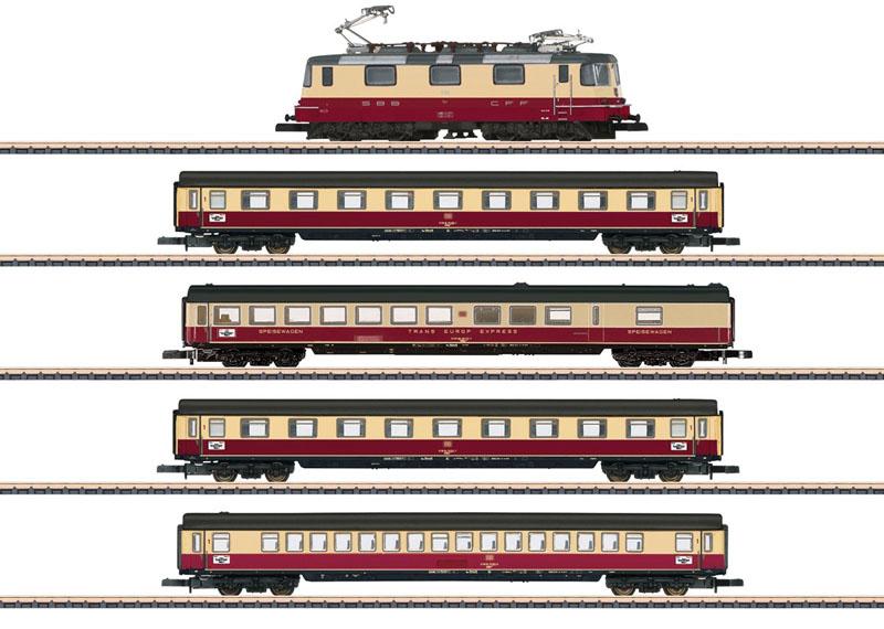 画像1: 鉄道模型 メルクリン Marklin 81593 ミニクラブ mini-club TEE 75 Roland Train 列車セット Zゲージ