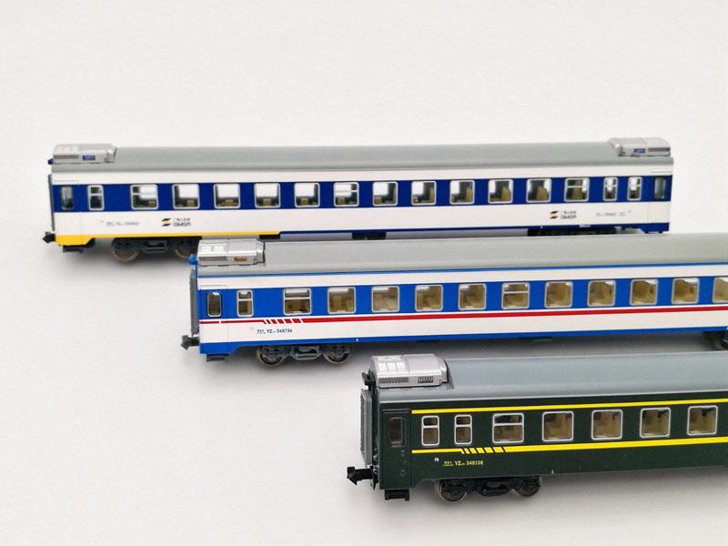 画像1: 鉄道模型 KUNTER 中国 YZ25K 客車3両セット Nゲージ