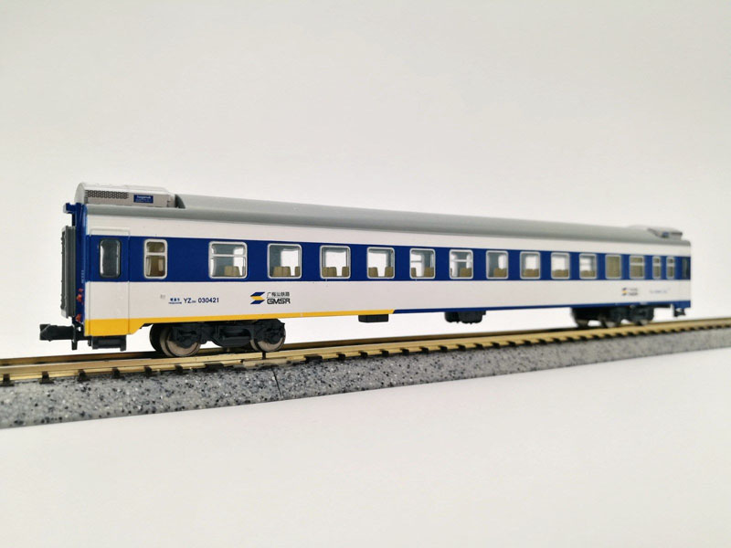 画像2: 鉄道模型 KUNTER 中国 YZ25K 客車3両セット Nゲージ