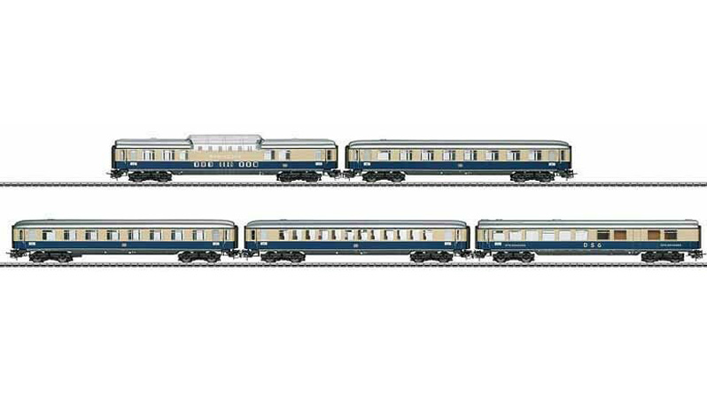 画像1: 鉄道模型 メルクリン Marklin 40850 ラインゴールド 客車5両セット HOゲージ