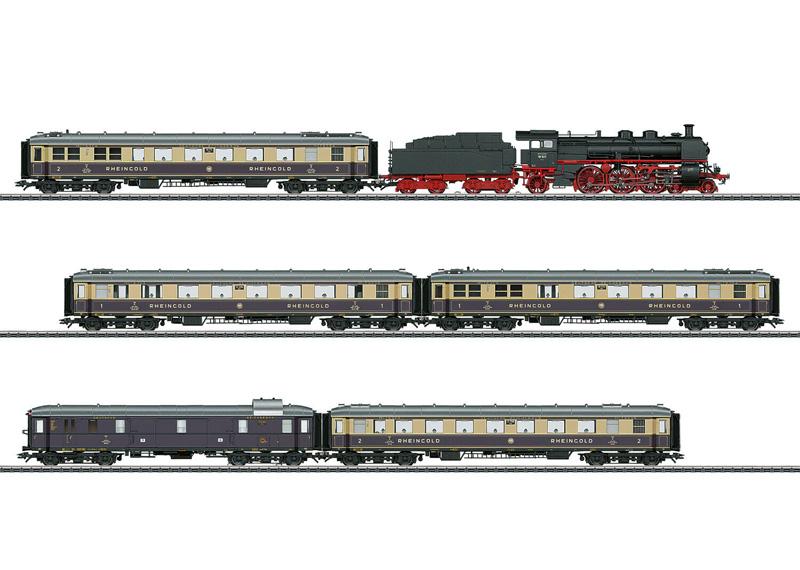 画像1: 鉄道模型 メルクリン Marklin 26928 ラインゴールド 蒸気機関車 列車セット HOゲージ