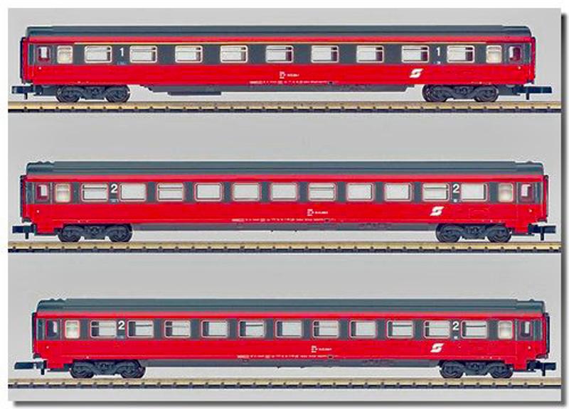 画像1: 鉄道模型 メルクリン Marklin 87342 ミニクラブ mini-club OBB 客車 3両セット Zゲージ