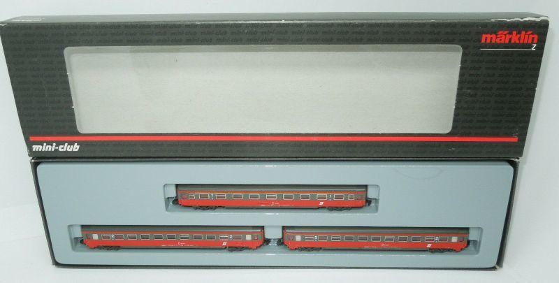 画像2: 鉄道模型 メルクリン Marklin 87342 ミニクラブ mini-club OBB 客車 3両セット Zゲージ
