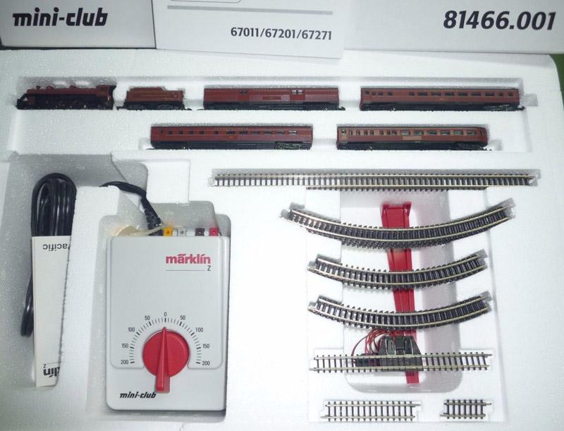 画像1: 鉄道模型 メルクリン Marklin 81466 ミニクラブ mini-club ペンシルベニアトランスフォーマー蒸気機関車 スタータセット Zゲージ