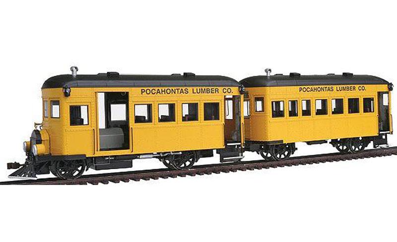画像1: 鉄道模型 バックマン Bachmann 28460 レールバス 2両セット ナローゲージ On30