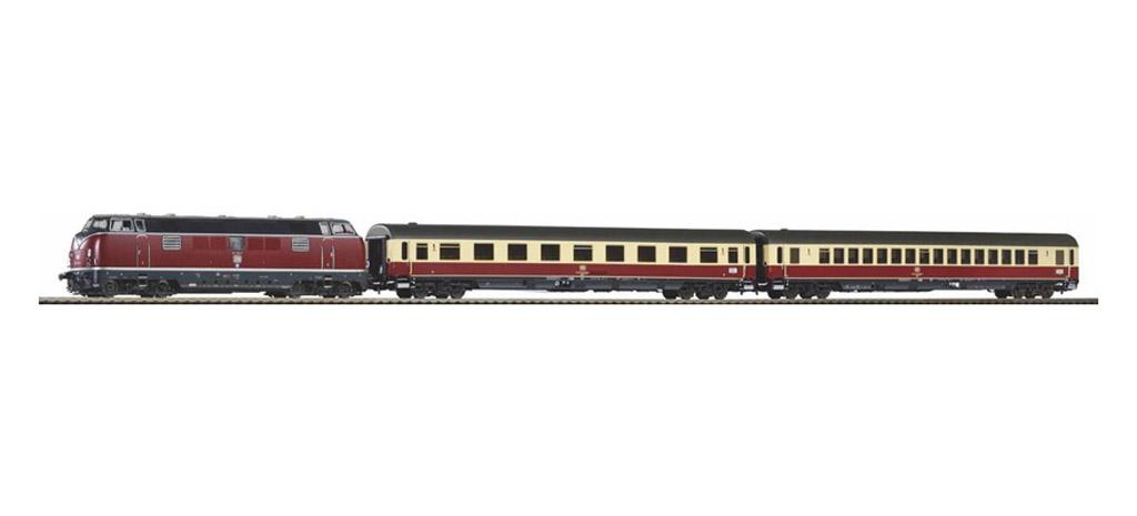 画像1: 鉄道模型 ピコ PIKO 58142 DB BR 221 ディーゼル機関車 + TEE 客車列車セット H0ゲージ