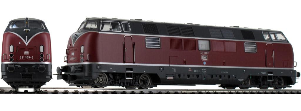 画像2: 鉄道模型 ピコ PIKO 58142 DB BR 221 ディーゼル機関車 + TEE 客車列車セット H0ゲージ