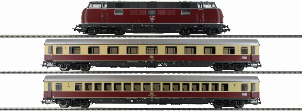 画像3: 鉄道模型 ピコ PIKO 58142 DB BR 221 ディーゼル機関車 + TEE 客車列車セット H0ゲージ