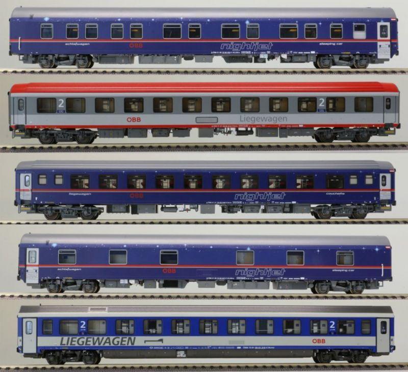 画像1: 鉄道模型 LS Models 97023 OBB Nightjet ナイトジェット 夜行列車5両セット HOゲージ